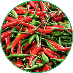 Capsaicin có nhiều trong ớt