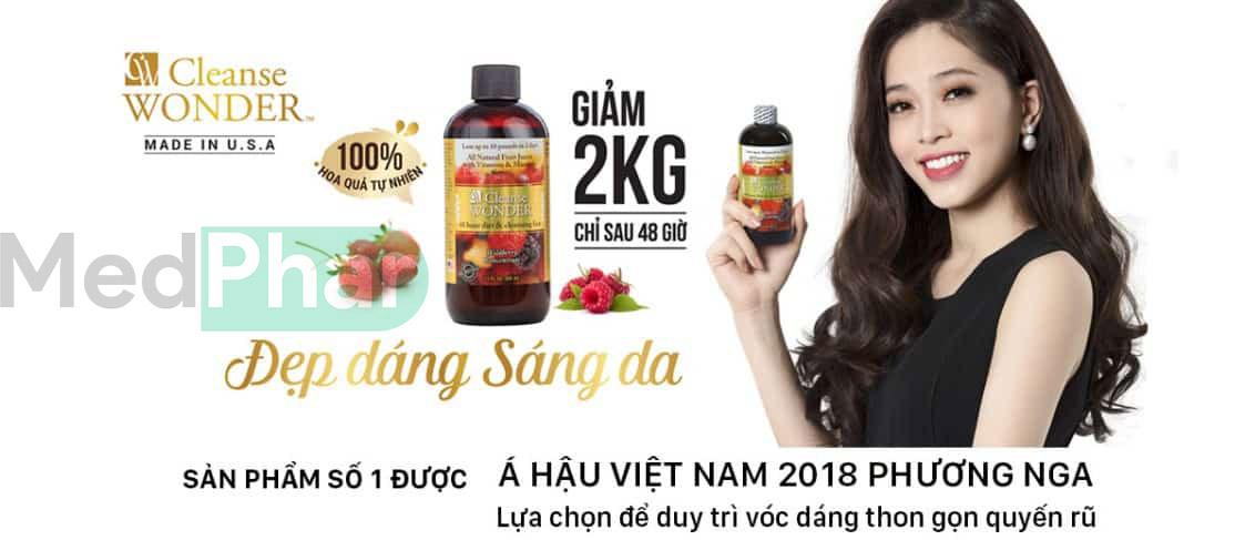 Cleanse Wonder giúp giảm 2kg chỉ sau 48 giờ
