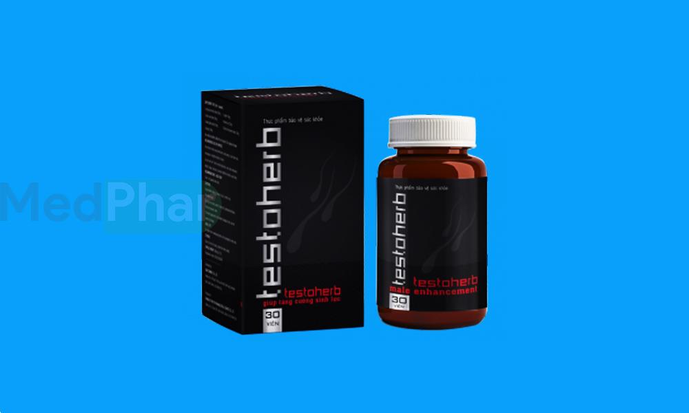 Hình ảnh Testoherb chính hãng tại Nhà thuốc MedPhar