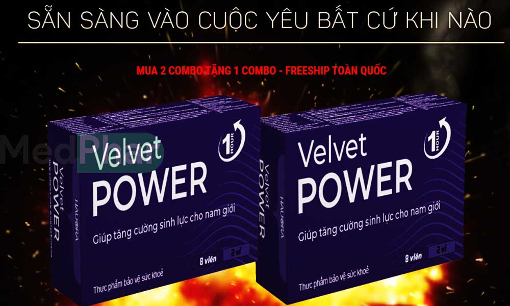 Cùng Nhà thuốc MedPhar tìm hiểu Velvet Power 1 Hour