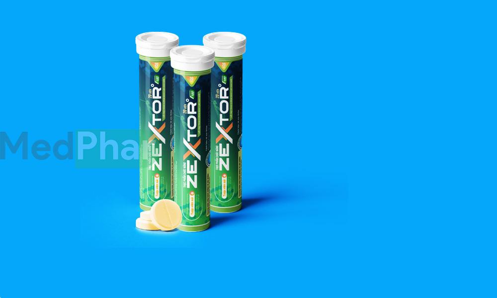 Viên sủi Zextor chính hãng tại Nhà thuốc Medphar