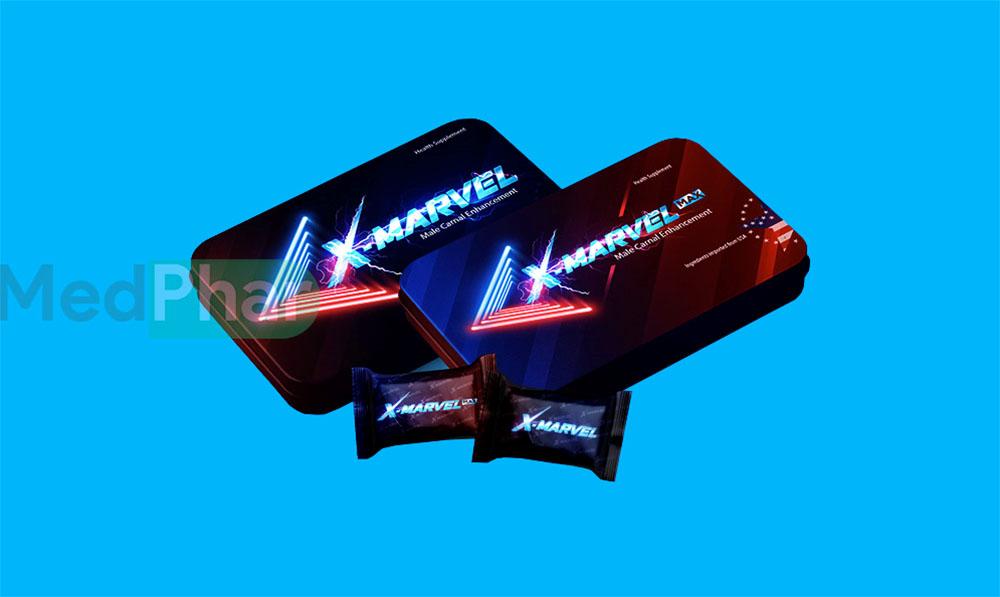 Hình ảnh viên ngậm sinh lý X-Marvel và X-Marvel Max chính hãng tại Nhà thuốc MedPhar