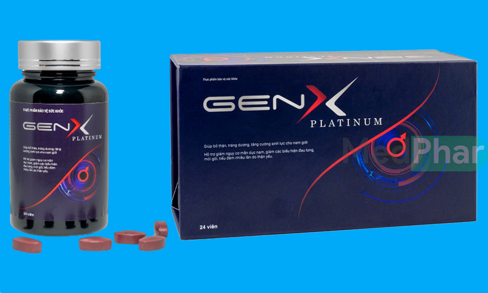 Gen X Platinum chính hãng tại nhà thuốc Medphar