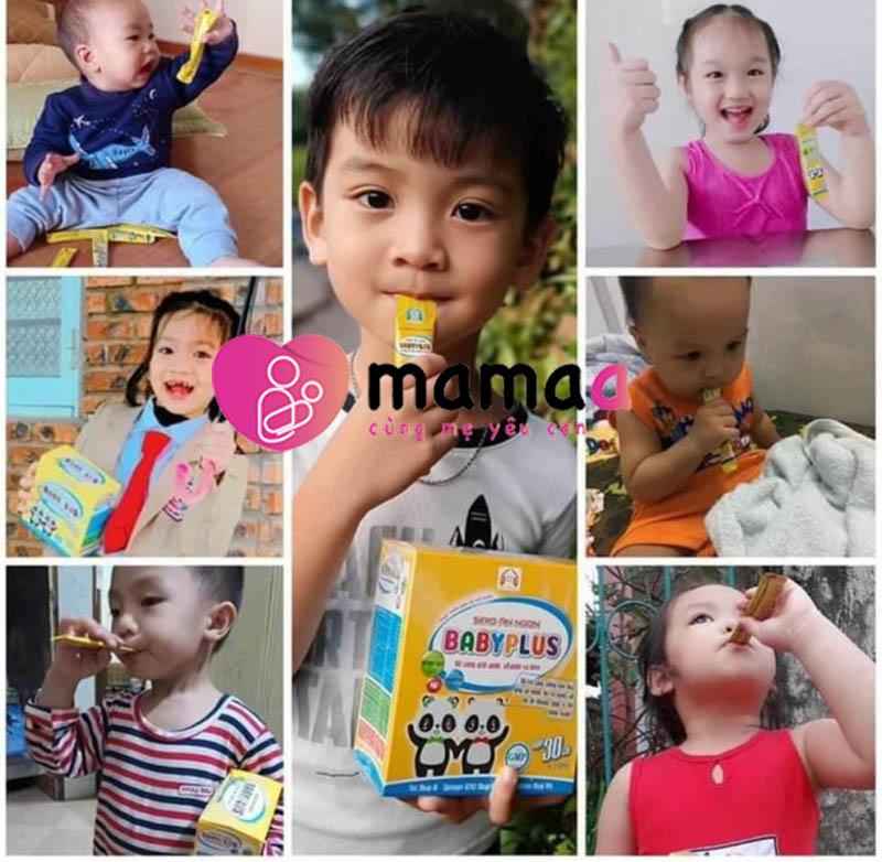 Khách hàng sử dụng siro baby plus và Ngũ cốc dinh dưỡng baby plus